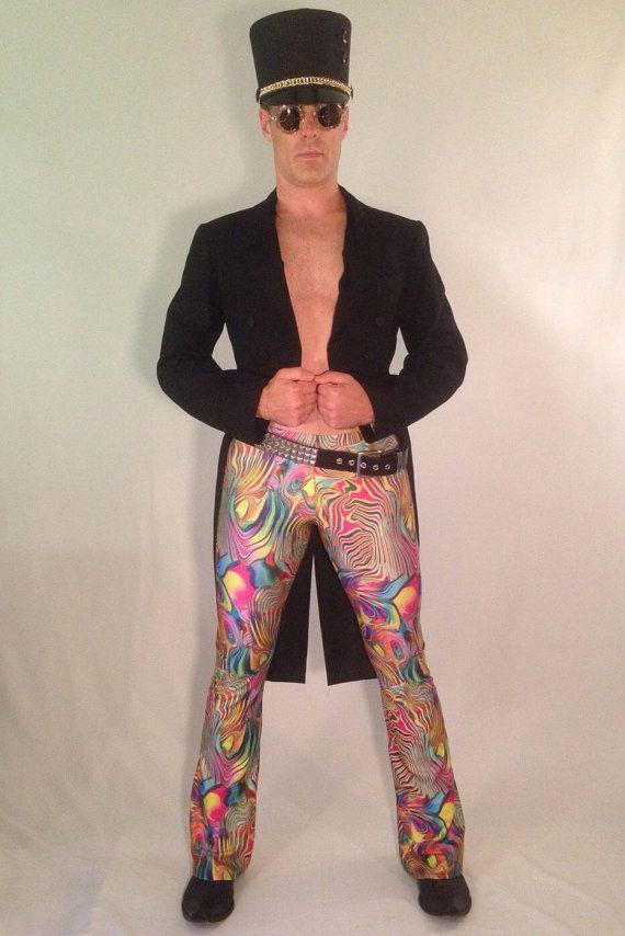 Acid Oil Slick // Men's Flare and Legging Psychedelic Pants // Great Burning Man Costume // Festival Clothing