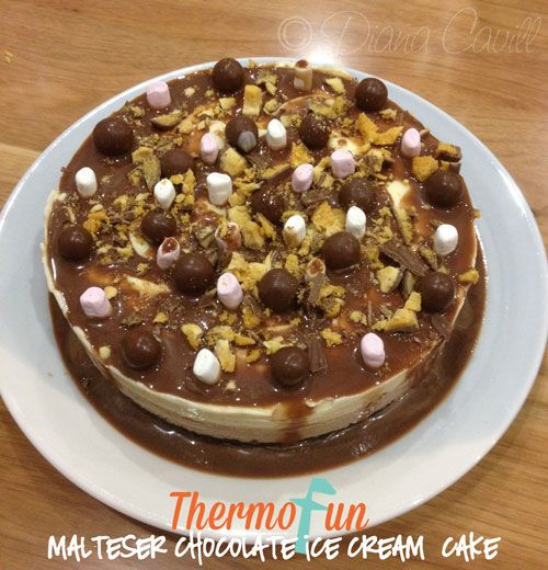ThermoFun - Wicked Wednesday - Malteser Chocolate Ice-cream Cake Recipe - ThermoFun | making decadent food at home |