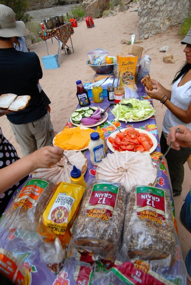 Grand Canyon Pa Directions%0A Grand Canyon Whitewater Lunch Spread