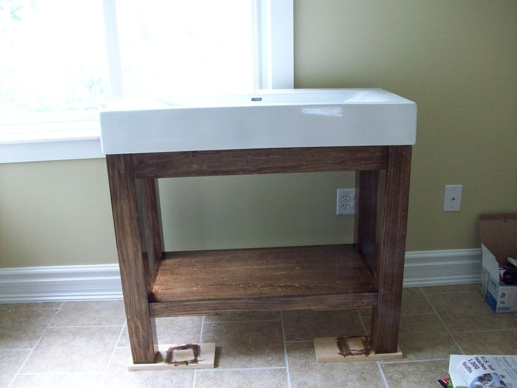 Simple Diy Inch Cube Vanity Bathroom Table Design Ideas Cheap With Upscale White Porcelain Rectangle Marble Top Combine Rustic Walnut Base Shelf Storage, Discount Bathroom Vanities For New Home Ideas With Favorite Various Design Models: Bathroom, Furniture, Interior
