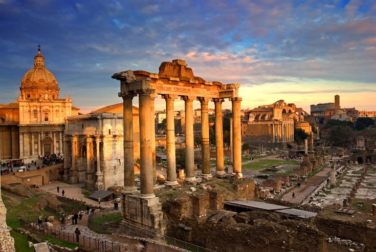 The center of the Ancient city of Rome, the Forum was used for public meetings, religious spectacles, legal courts, commerce and more.
