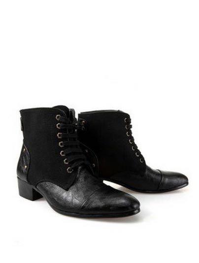 cute booties... http://www.dresslily.com/splicing-lace-up-belt-rivet-design-combat-boots-for-men-product228452.html