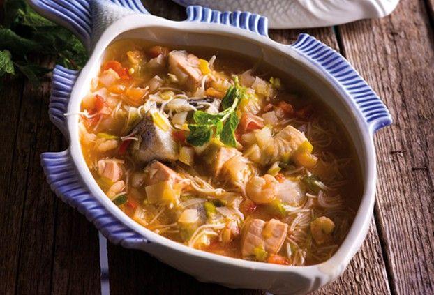 Smaki Portugalii - zupa rybna http://smakiportugalii.biedronka.pl/przepisy/15/sopa-de-peixe-com-aletria