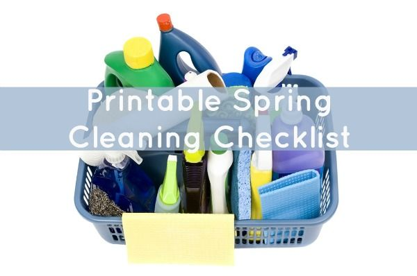 Printable Spring Cleaning Checklist roundup