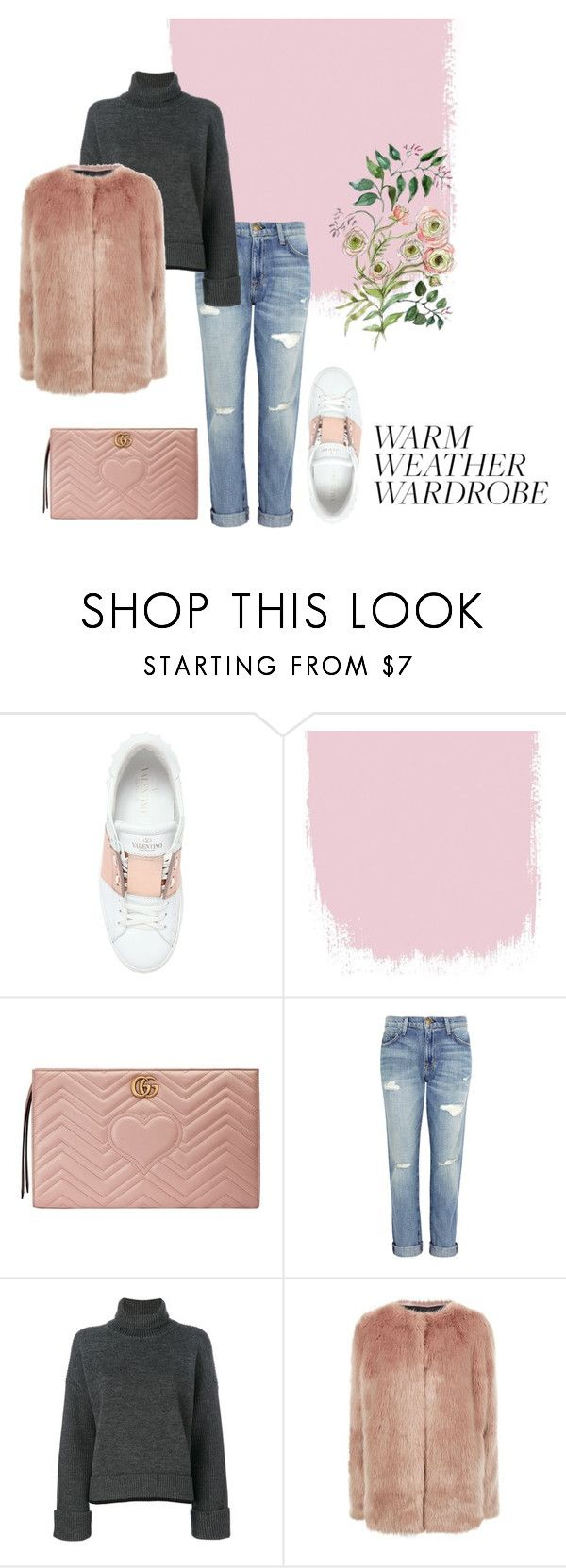 """""""VALENTINO SNEAKERS"""" by yasmingarcia99 on Polyvore featuring Valentino, Gucci, Current/Elliott, Dsquared2 and Pinko"""