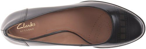 Amazon.com | Clarks Women's Tarah Sofia Dress Pump, Black Brushed Leather, 5 M US | Pumps