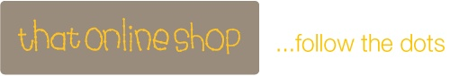 Our thatonlineshop...follow the dots trademarked logo!