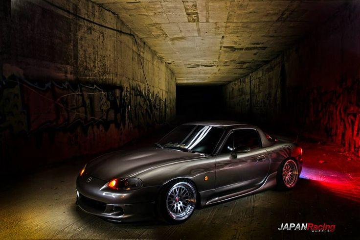 Mazda MX-5 + #JapanRacing Wheels JR-10 16x9 ET10 Silver Machined Face http://rpmotorsport.pl/felgi-japan-racing-jr10-c-753_633_6992_7124.html