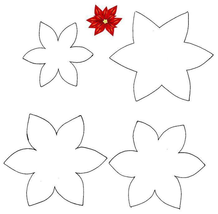 Imagenes Y Moldes De Flores Navideñas En Foami Imagui