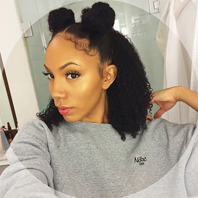 They May Be Half Up But They Re Fully Awesome Natural Hair Styles Medium Length Hair Styles Hair Styles