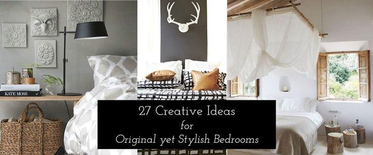 27 Creative Ideas for Original yet Stylish Bedrooms  #bedroomideas #coolbedroom #original #masterbedroom