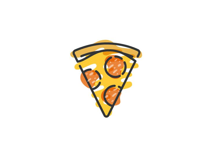 Thirty pizzas everybody! In this gif you can see the last ten. Created by Gustavo Zambelli via Dribble.com