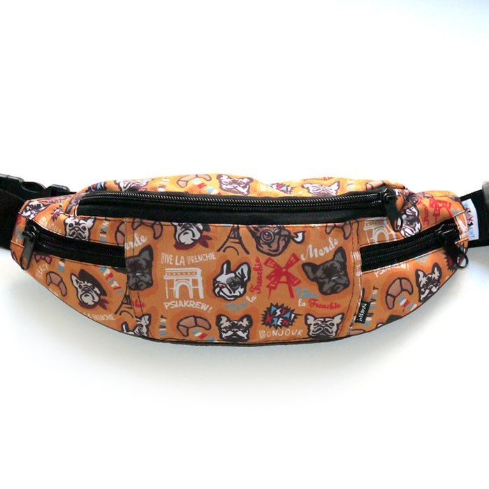 French Bulldog, Frenchie Fanny bag , fanny pack, dog walking bag , bum bag, hip bag , by PSIAKREW on Etsy