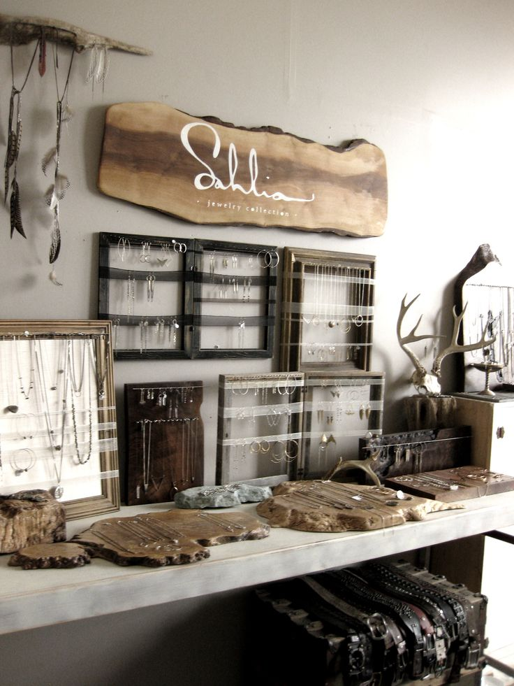Nice aesthetic but too cluttered. frames for jewelry display - Sahlia Jewelry studio