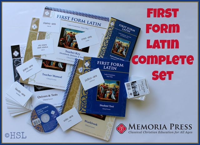 Home Sweet Life: First Form Latin Complete Set from Memoria Press ~... If you want to be able to teach Latin to your students, either at home with two students, or in a class of 20 at Co-op or a private school, without knowing any Latin ahead of time... this set has all the tools you need to succeed as the teacher without stressing yourself out.