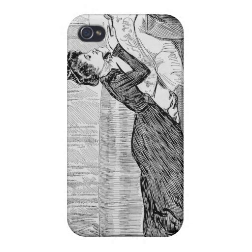 Gibson Girl Reading iPhone 4/4S Cover