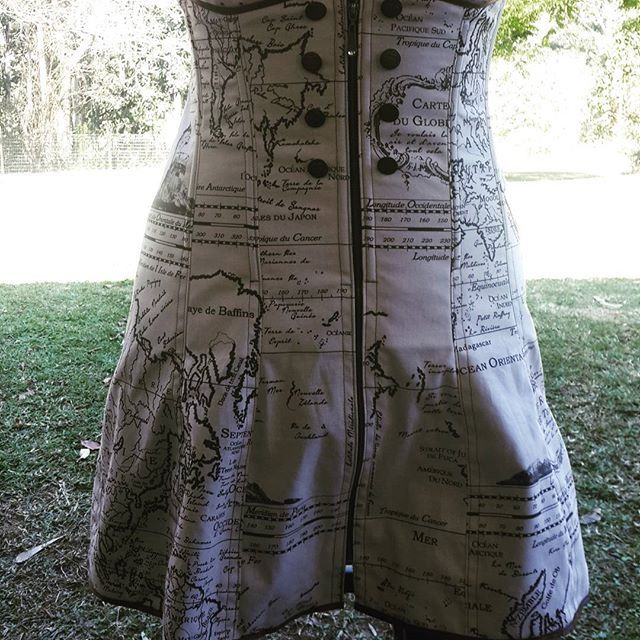 I am really pleased at how my first underbust corset dress turned out. Map…