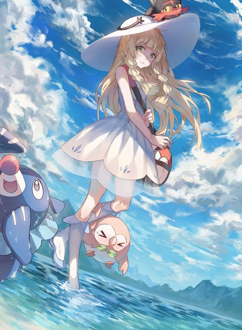 Lillie is so pretty. *__*) Cute pokemon too! ■ 6/10/16 DR30-->DR4 !!! Thank you!
