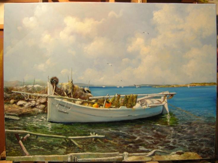 Cuadro pintado al óleo por N. Negro, en Arte Gabriela