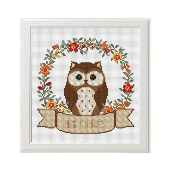 27 best Cross Stitch Owl images on Pinterest   Kreuzstich eule, Baby ...