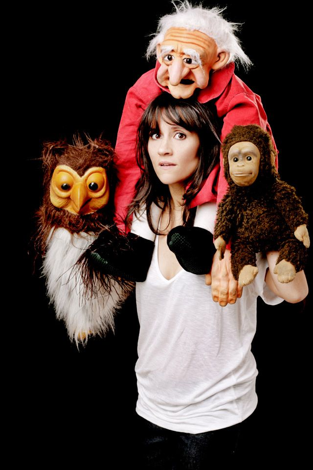 Nina Conti (with her characters)