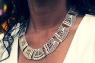 Geometric necklace hand-made by Colombian artisans!