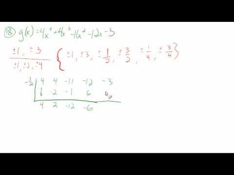 5.7: Apply the fundamental theorem of algebra (sample problems)
