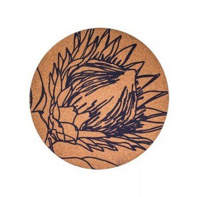 Beautiful, minimalist cork placemats for classy entertaining. Bring a touch of nature into your home. Different floral designs, including the protea. Black Sunbird Placemats - Set of 6 from Faithful to Nature. Eco-friendly product from South Africa. Affiliate link.