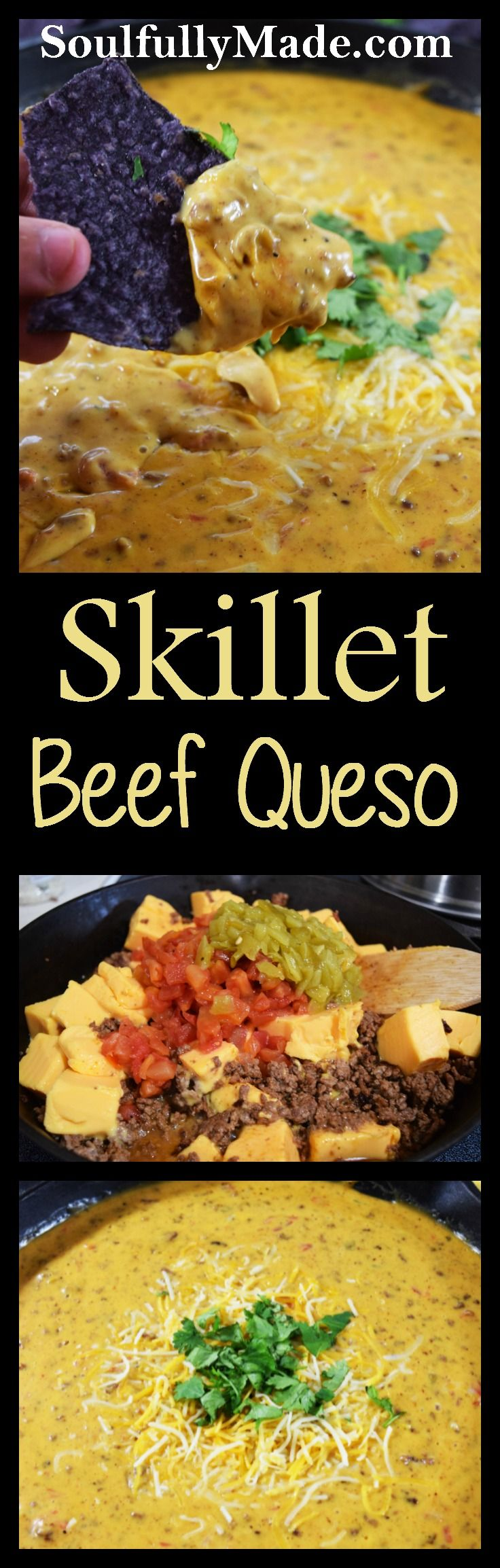 This Skillet Beef Queso is the perfect starter to cheer your team to a victory!
