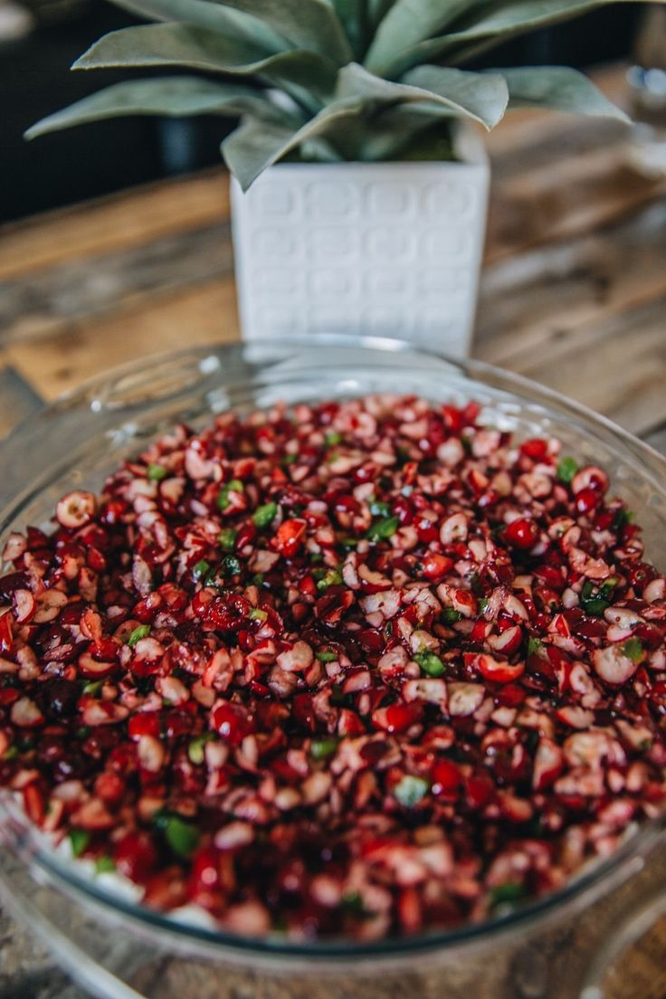 Holiday Cranberry Dip thanksgiving appetizer christmas jalapeño cream cheese recipe