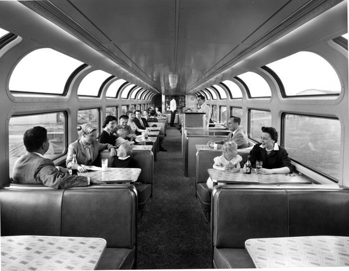 1956 interior view shows the top of the cap lounge on the atchison topeka santa fe railway. Black Bedroom Furniture Sets. Home Design Ideas
