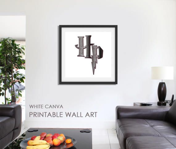 HP Harry Potter Home Decor Printable Art Digital by WhiteCanva