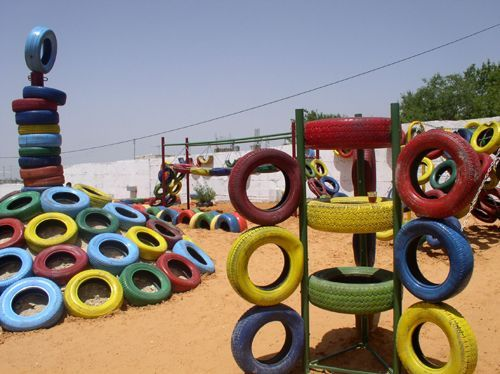 510 best images about art tire on pinterest discover for Tire play structure