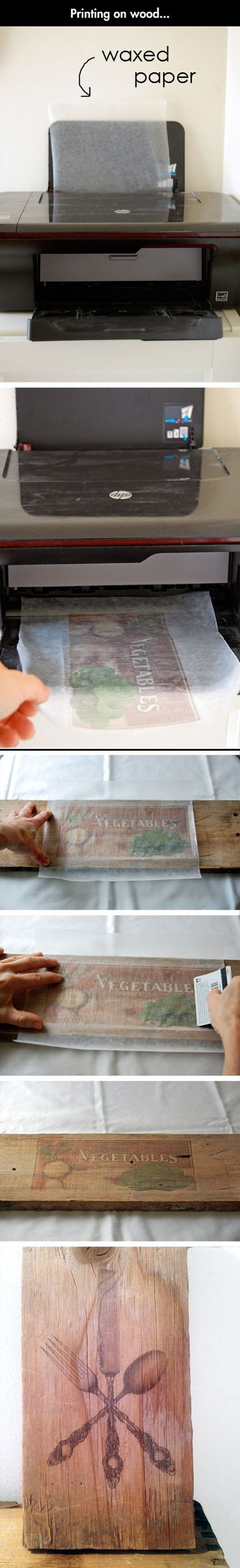 image transfer by printing on wax paper . brilliant!