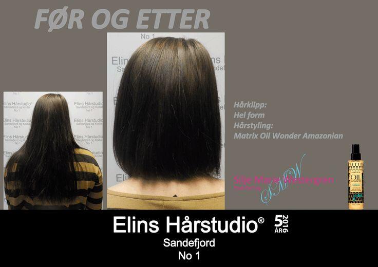Brunette langt hår klipp hel form skulderkort hår