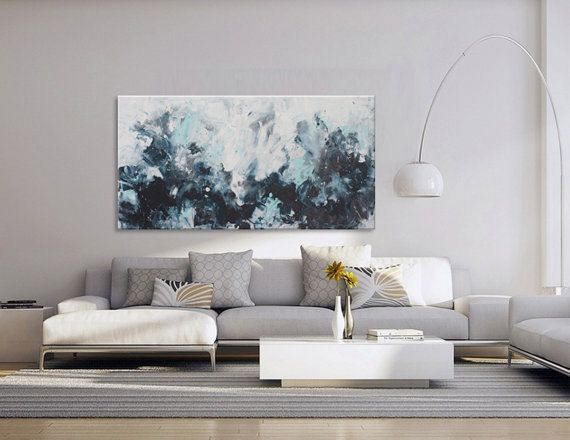 Original Abstract Painting Blue Seascape Painting Modern Art   Listen To  The Rhymes Of The Sea Part 72