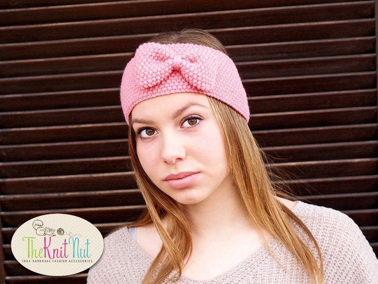 Flower Headband Wide Headband Girl Tweens Headband Crochet Ear Warmer Pink Ski Hat Pink Cream Coral Soft Winter Ski