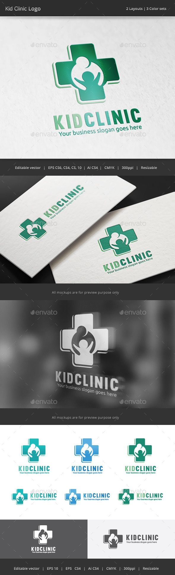 Kid Clinic Logo Template Vector EPS, AI. Download here: http://graphicriver.net/item/kid-clinic-logo/12479711?ref=ksioks