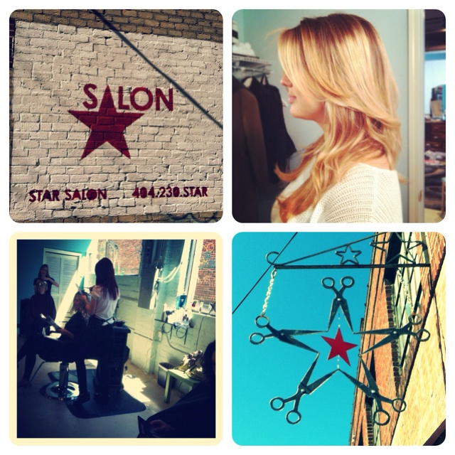 My job!  Hairstylist at Star Salon in Inman park, Georgia:)