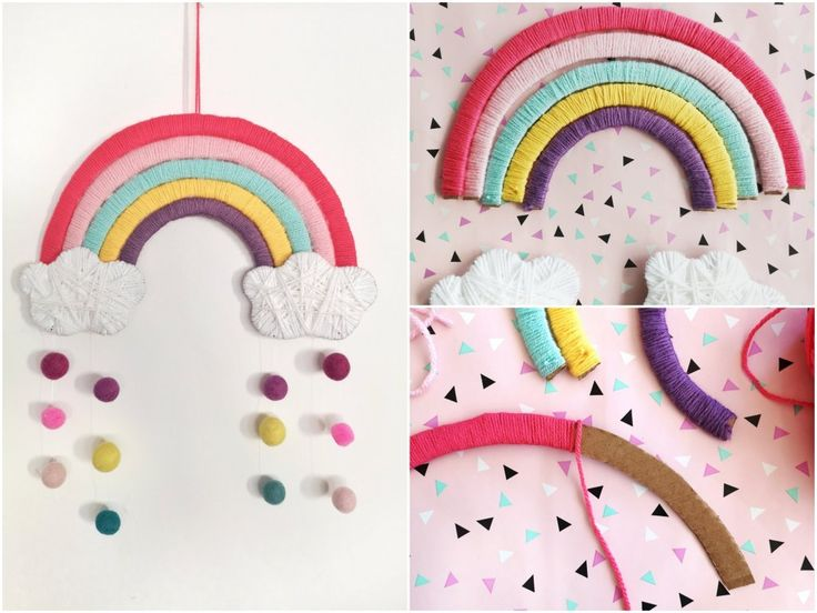 DIY rainbow made of cardboard – children's room decoration just do it yourself