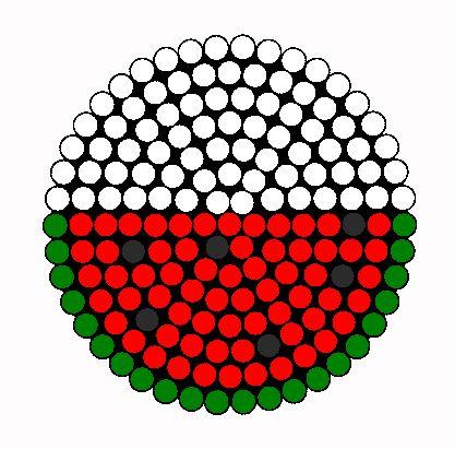 watermeloen patroon van strijkkralen