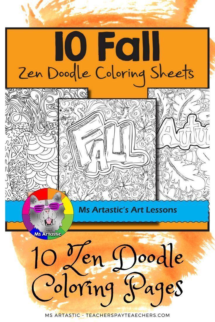 https://www.teacherspayteachers.com/Product/Fall-Autumn-Coloring-Pages-Zen-Doodles-2793748