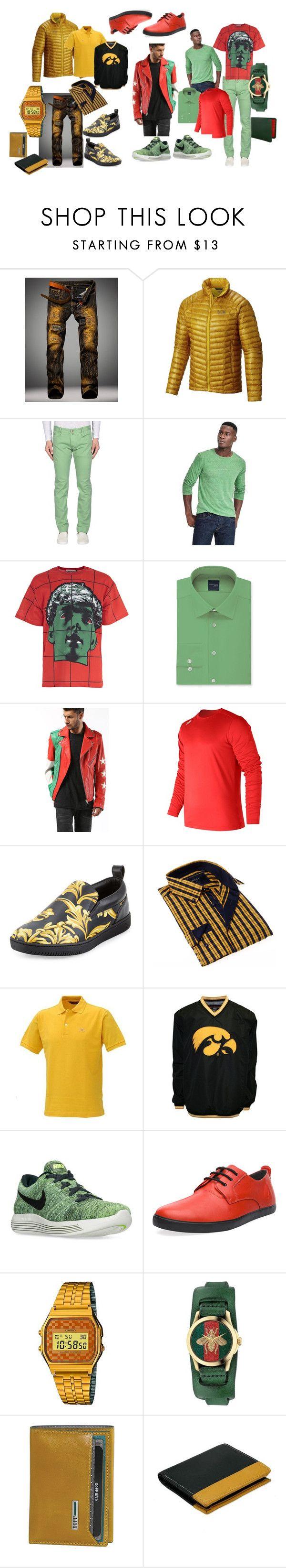 """men's chic"" by ruslana-sadova ❤ liked on Polyvore featuring Mountain Hardwear, L.B.M. 1911, Banana Republic, Moschino, Madison, Diesel, New Balance, Versace, BRIO and ROBE DI KAPPA"
