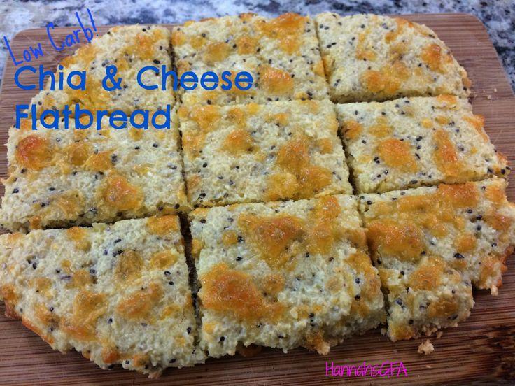 Chia and cheese flatbread crackers low carb low carb