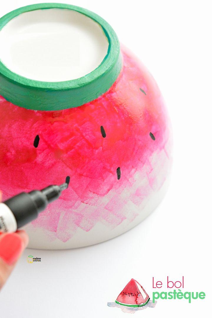 DIY le bol pastèque
