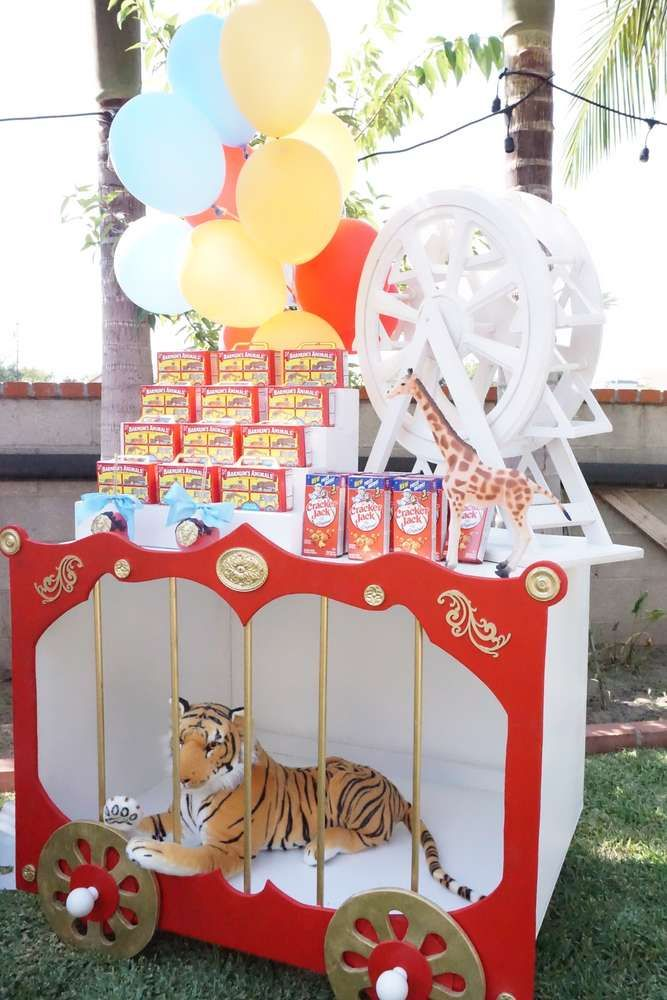 Fun themed treats at a circus birthday party! See more party ideas at CatchMyParty.com!
