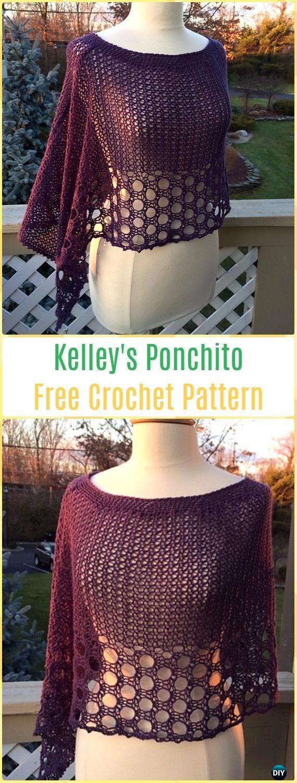 Crochet Kelley's Ponchito FreePattern - Crochet Women Capes & Poncho Patterns