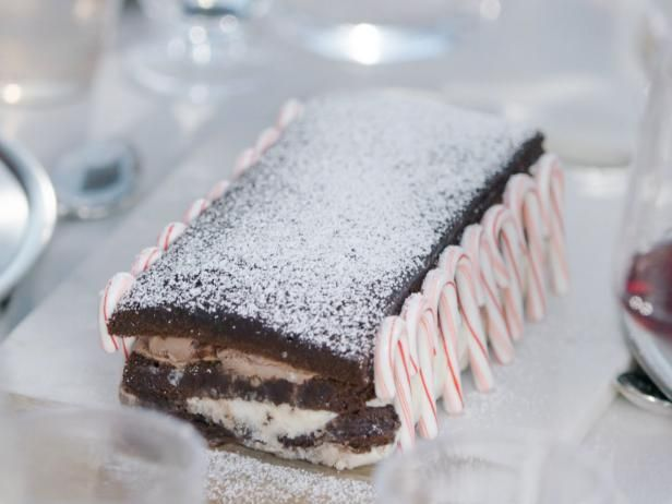 Get Black and White Brownie Ice Cream Cake Recipe from Food Network