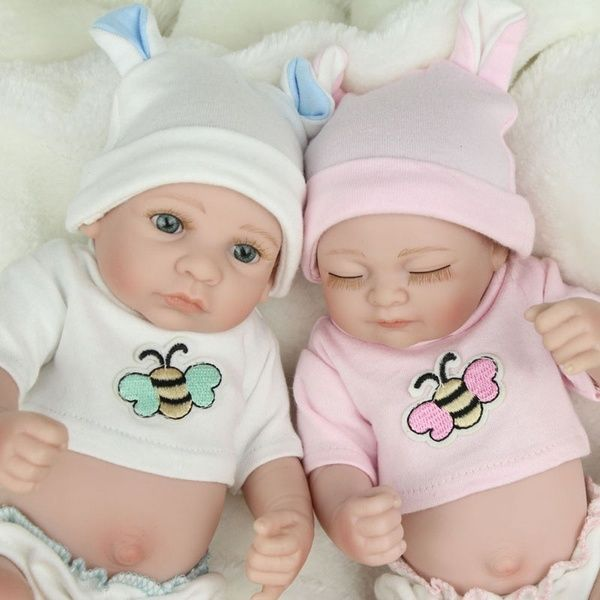 Realistic Twins Bebe Reborn Dolls Newborn Dolls 10 Inch Full Silicone Body Bath Toy Baby Birthday In 2020 Silicone Reborn Babies Newborn Baby Dolls Baby Birthday Gifts