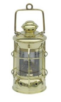 Nelson-Lampe Messing, Petroleumbrenner,  H: 28cm, Ø: 13cm